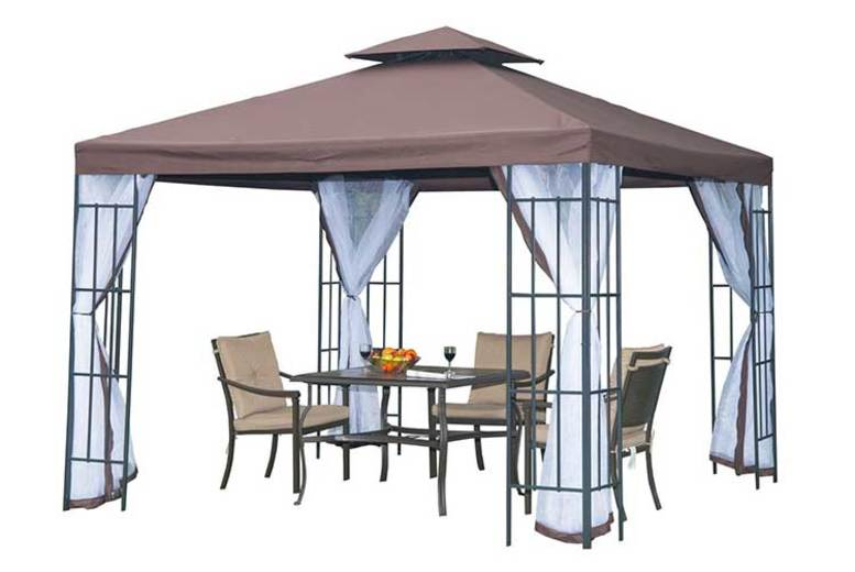 Outsunny Metal 3x3M Gazebo Canopy