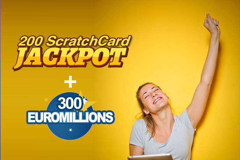 Entertainment: 300 EuroMillions Syndicate Lines & 200 Scratchcards - £133m Jackpot!