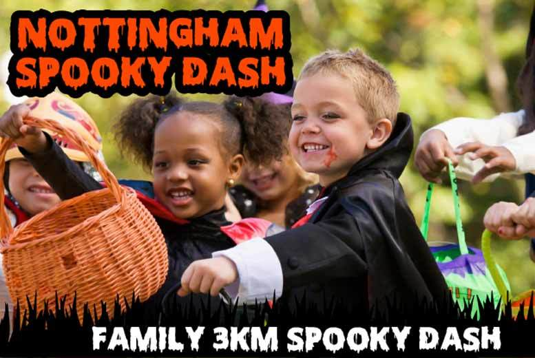 £15 instead of £47.52 for one adult ticket and one child ticket to the Halloween Spooktacular dash or £25 for a family ticket on 29th Oct - save up to 68%