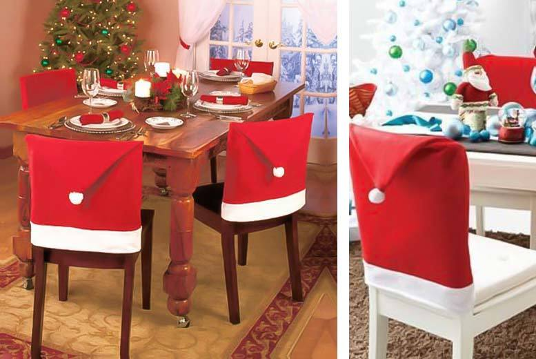 £4.99 instead of £29.99 (from Colour My Wall) for a pack of four Santa chair covers, £6.99 for six, £8.99 for eight or £10.99 for 10 - save up to 83%