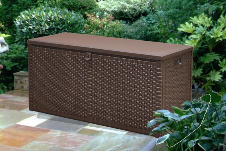 Rattan Garden Storage Box – 2 Sizes! (£29)