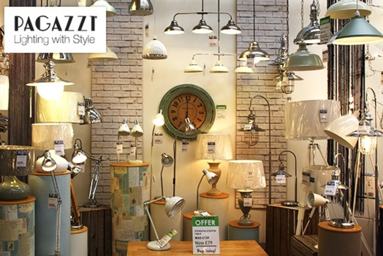 £20 for a £40 voucher to spend in Pagazzi Lighting and Mirrors in-store or online - save 50%