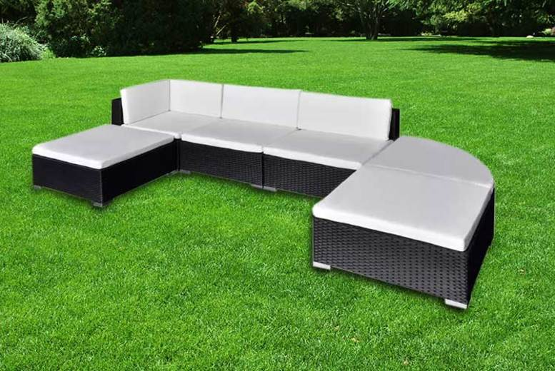 6pc Modular Rattan Garden Furniture Set – 2 Colours!