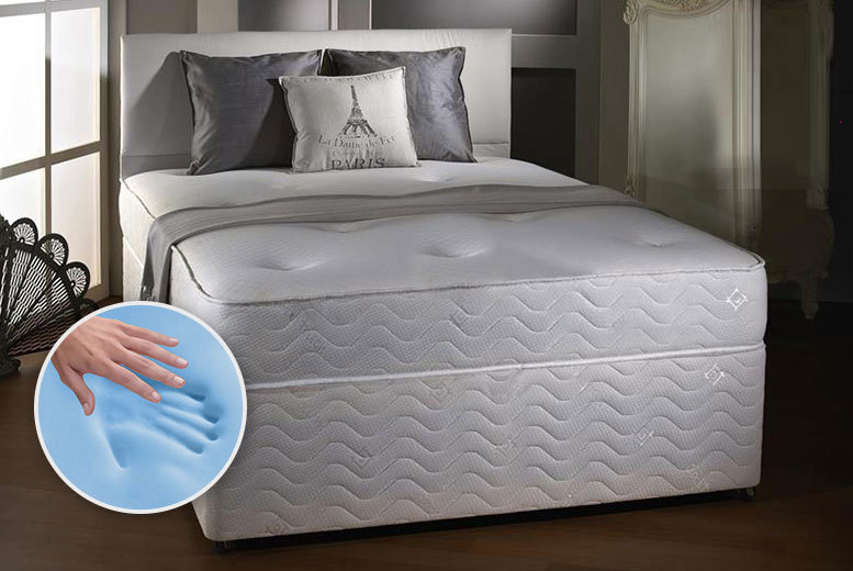 £59 (from Midnight Dreams) for a single Cool Blue memory sprung mattress, £69 for small double or double, £89 for king size - save up to 83%