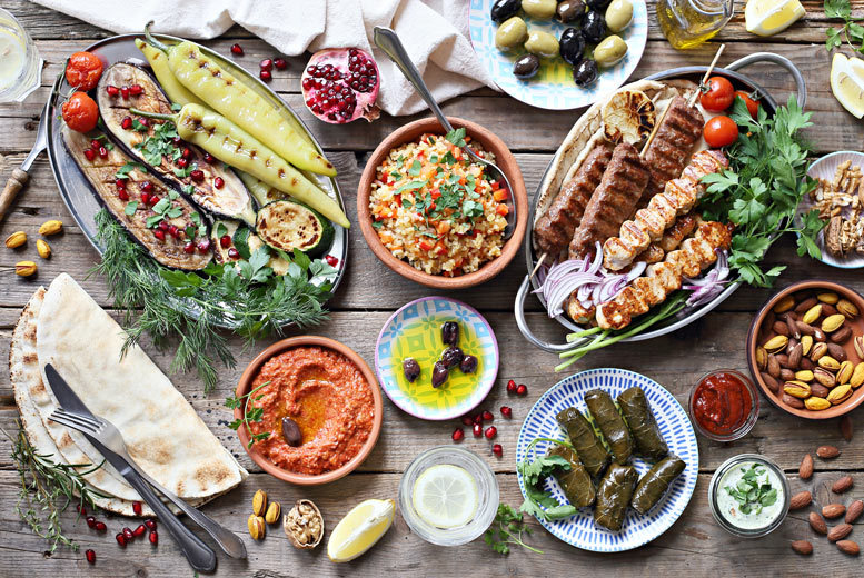 Restaurants & Bars: Greek Dining for 2 – 6 Meze Sharing Dishes & 2 Mains!