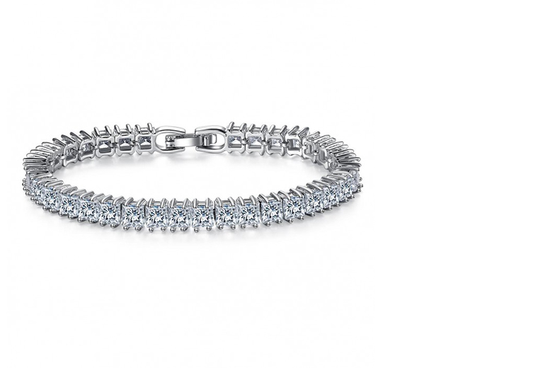 £22 instead of £349 (from Your Ideal Gift) for a white-gold plated sapphire tennis bracelet - sparkle all summer and save 94%