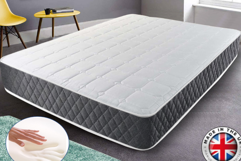 Deluxe Crysten Memory Foam Mattress – 4 Sizes! (£79)