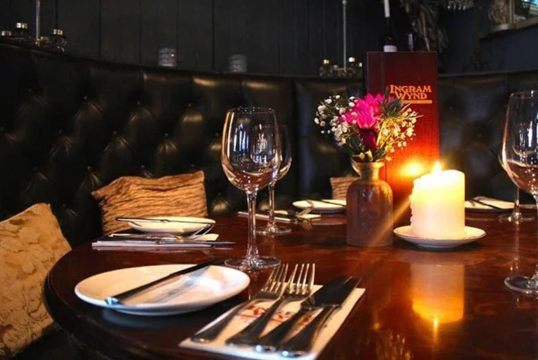 Restaurants & Bars: Steak Dining with Wine for 2 or 4 @ Ingram Wynd, Glasgow City Centre