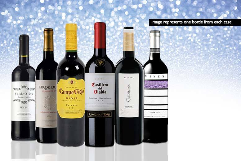 £19.99 (from San Jamón) for a Mystery Red Wine Deal - get a six-bottle case of Casillero del Diablo, Campo Viejo Crianza, Parker Red or Calderona Reserva and more!