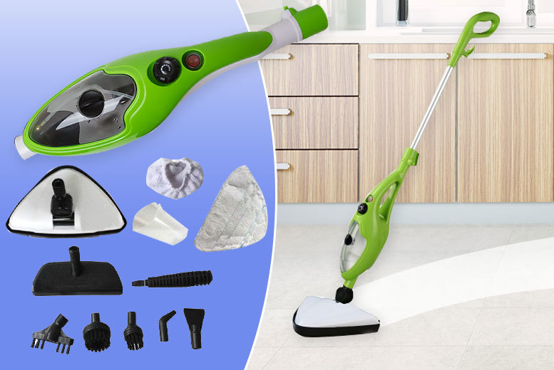 £24.99 instead of £85 (from Home Empire) for a 1500w 10-in-1 steam mop – save 71%