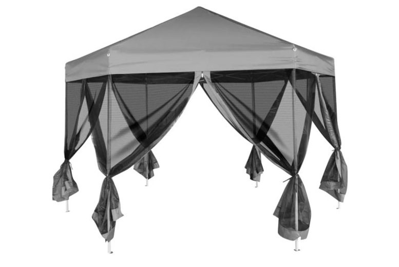Outsunny 4.5mx3m Pop Up Gazebo Party Tent Canopy Marquee with Storage Bag Coffee