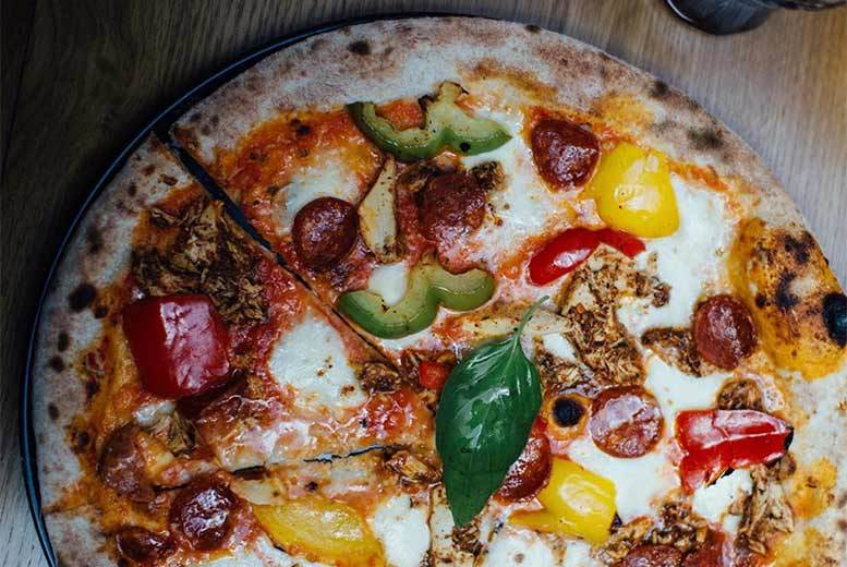 Restaurants & Bars: Pizza for 2 with Glass of Wine or Beer @ La Riva, Leith