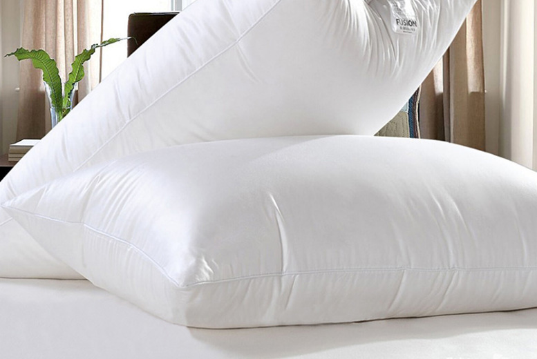 Luxury Goose Feather & Down Pillows – 2, 4, 6 or 8! (£9.99)