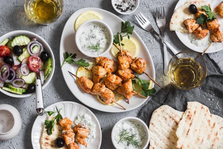 Restaurants & Bars: 15-Dish Greek Mezze Dining for 2 or 4, Manchester City Centre
