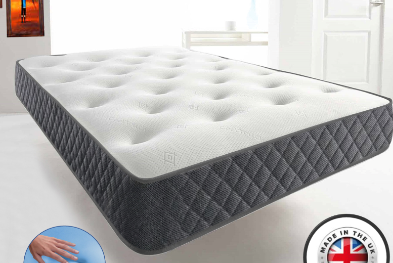 From £59 for a single, small double or double (£79) or king (£99) Cool-Blue Memory Foam Mattress from Dreamtouch Mattresses LTD – save up to 80%