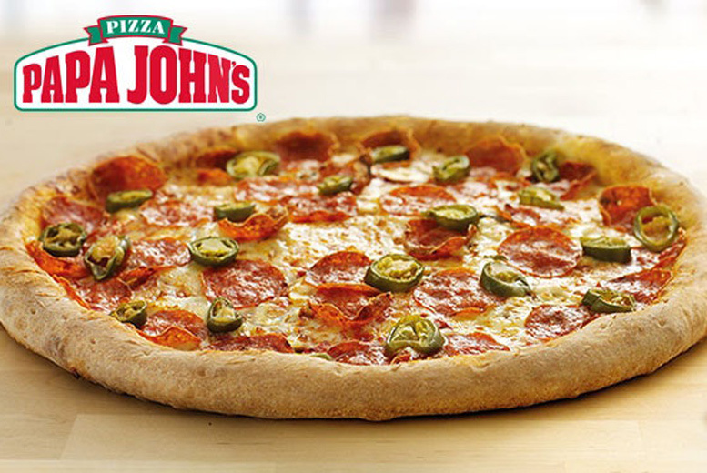 Restaurants & Bars: Papa John's Pizza with 2 Toppings - Small, Medium, Large or XXL!