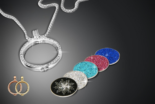 £14 (from Glam Rocks London) for an 18ct gold-plated coin locket necklace, £7 for 3 coin locket inserts