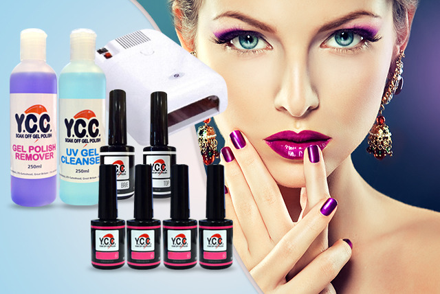 £29 instead of £75.96 (from Millennium Nails) for 4 gel polishes, £69 with a UV lamp, £79 for the 6pc kit, or £89 for 8pc - save up to 62%