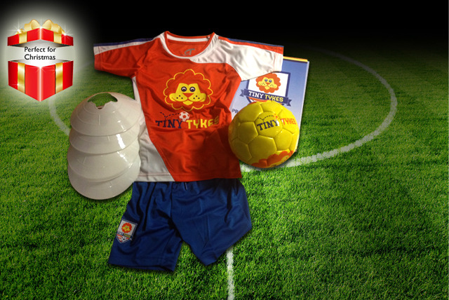 From £14.99 instead of up to £38.99 (from Tiny Tykes) for a football coaching pack with a children's football kit - save up to 62%