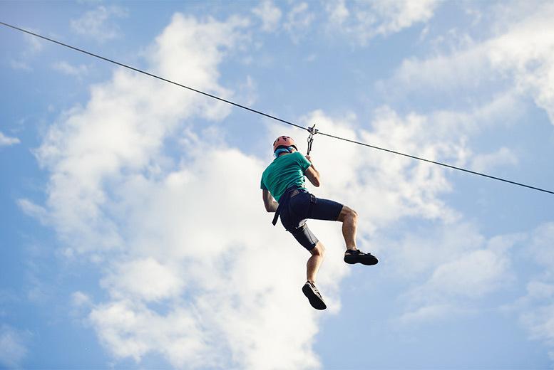 Activities: Zip Line Adventure, Chepstow - 1 or 2 Rides!