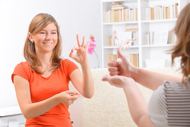 £19 instead of £99 for an online sign language levels 1 & 2 course from OfCourse - save 81%