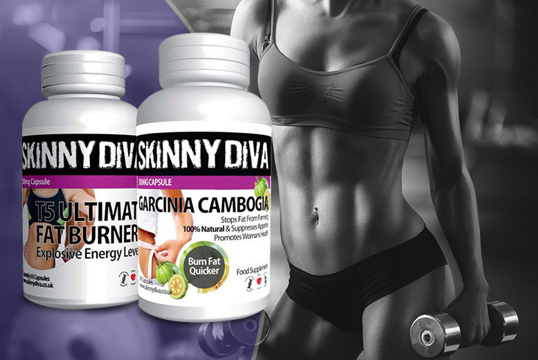 £9 instead of £69.98 (from Skinny Diva) for a one-month supply* of Garcinia Cambogia & T5 'fat burners', £19 for three month supply* – save up to 87%