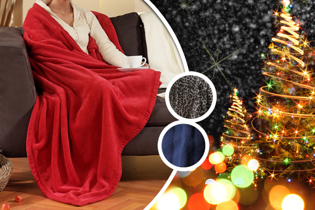 £5.99 instead of £19.99 (from eGlobal Shoppers) for a sleeved blanket in red, blue or leopard - stay warm this winter and save 70%