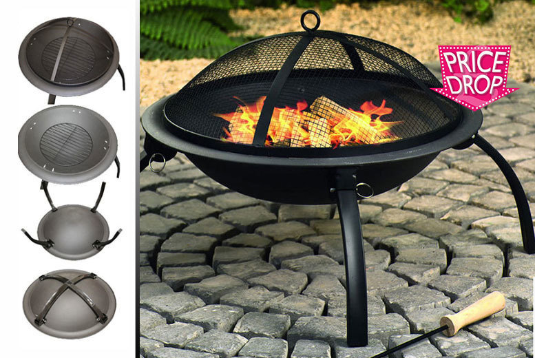 £19.99 instead of £54 (from Sash Time) for an outdoor garden fire pit with BBQ grill - get sparks flying and save 63%