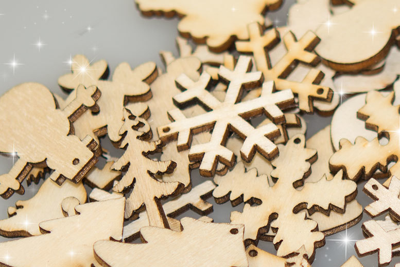 £2 instead of £15 (from Alvi's Fashion) for a pack of 50 mixed Christmas plywood, £4 for set of 100 - save up to 87%