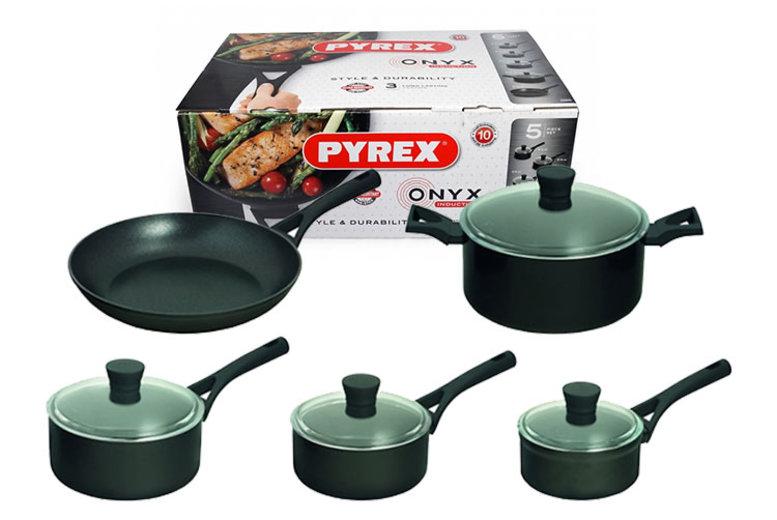 5pc Pyrex NonStick Aluminium Pan Set