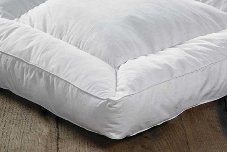 From £29.99 (from Direct Warehouse Limited) for a 12.5cm deep duck feather and down mattress topper – choose from five sizes and save up to 62%
