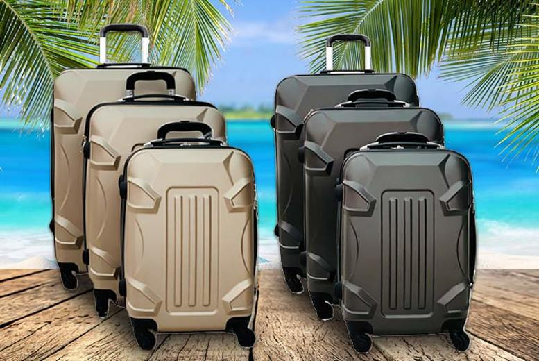3pc ABS Hard Shell Suitcase Set - 4 Colours!