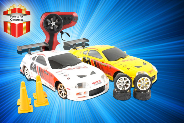 £12.99 instead of £49.99 for a remote control Toyota or Nissan drift racing car from Wowcher Direct - save 74%