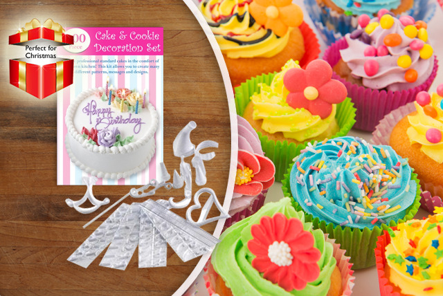 £6 instead of £19.99 (from Shopperheads) for a 100-piece cake decorating kit - save 70%
