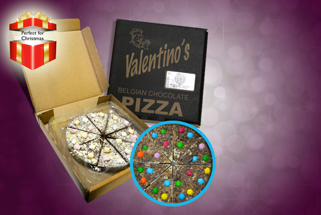 £8.99 instead £10.80 (from Sweete Treats) for a 7-inch milk or white chocolate pizza, £12.99 for a 10-inch chocolate pizza - save up to 17%