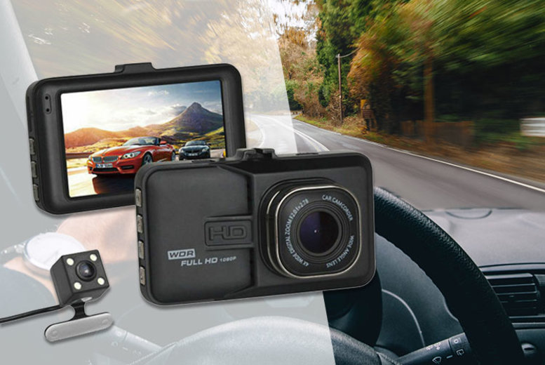 1080p HD Touch Screen Wide Angle Dash Cam & Optional MicroSD Card