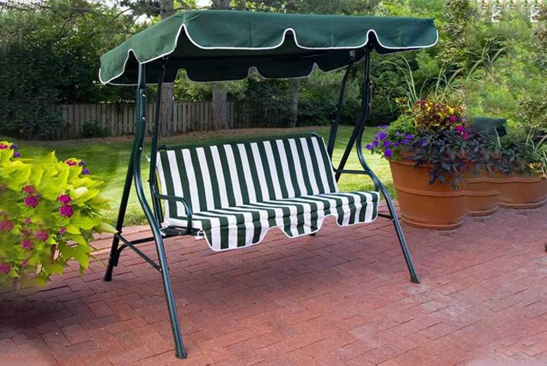 3Seater Garden Swinging Chair with Canopy