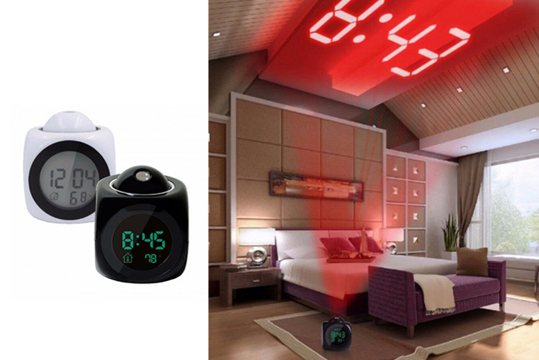 6in1 LED Projector & Voice Alarm Clock 2 Colours!