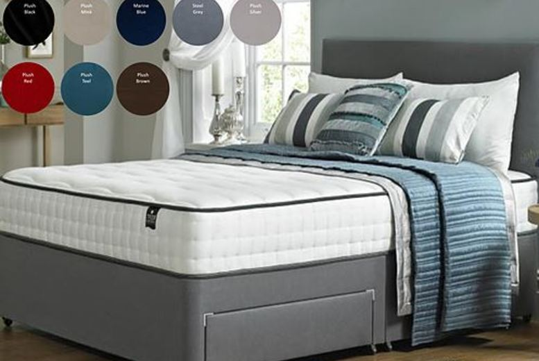 From £259.99 for a divan bed with plain headboard from Dreamtouch Mattresses LTD – save up to 57%
