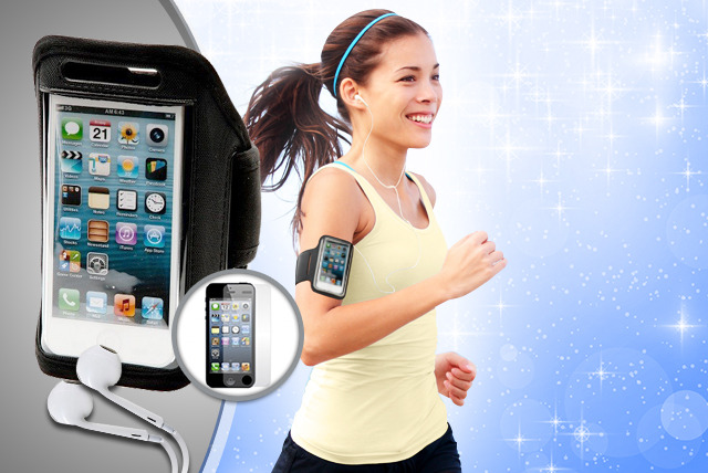 £5.99 instead of £12.98 (from TIME 2) for an iPhone armband & screen protector, £7.99 inc. earpods - save up to 54%