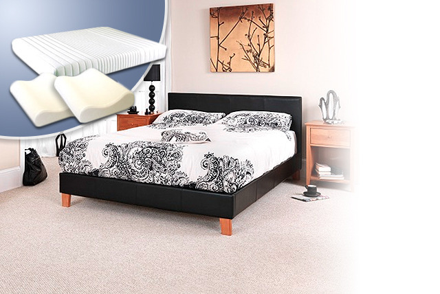 £199 instead of £498 (from Mattress Shed) for a faux-leather double bed, memory foam mattress & pillows, £249 for a king - save up to 60%