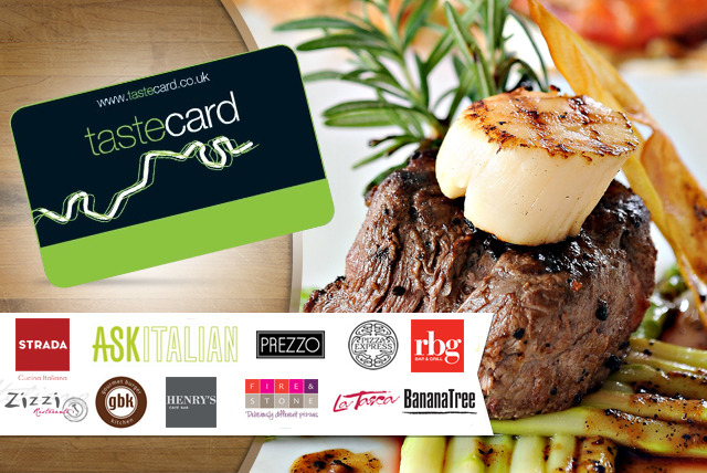 £35 instead of £79.95 (from Taste Marketing) for a 12-month tastecard that  gives you 50% off or 2-for-1 deals at 7000+ UK restaurants - save 56%
