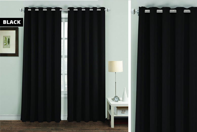 Thermal Blackout Eyelet Curtains  7 Sizes & 6 Colours!