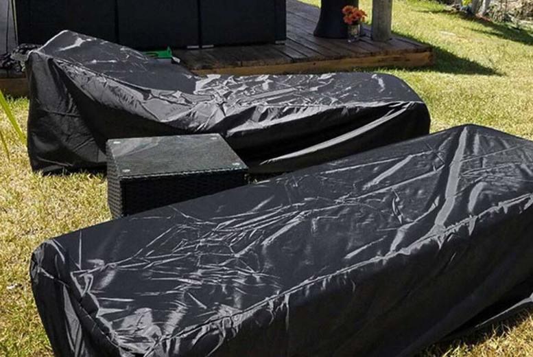 1, 2 or 4 Heavy-Duty Waterproof Sun Lounger Covers