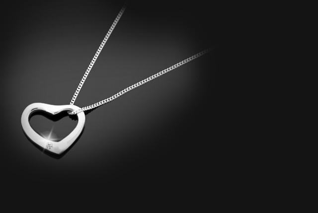 £14 (from British Gem) for a sterling silver heart pendant with a black or clear diamond - sparkle this season!