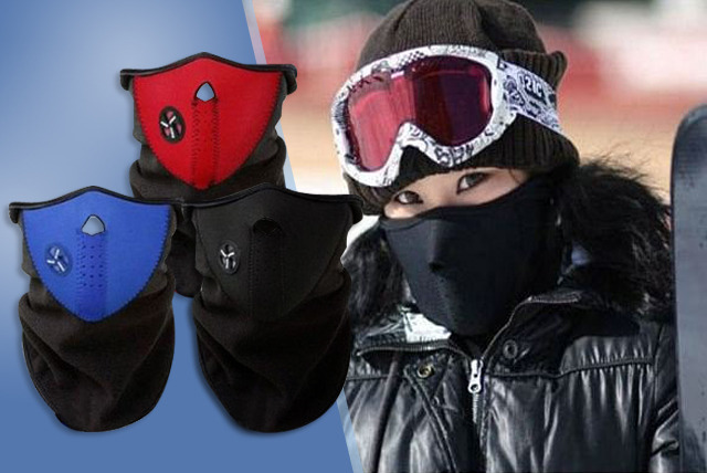 £9 instead of £39.99 (from Emyub) for a pack of 3 neoprene 'windproof' thermal masks - save 77%
