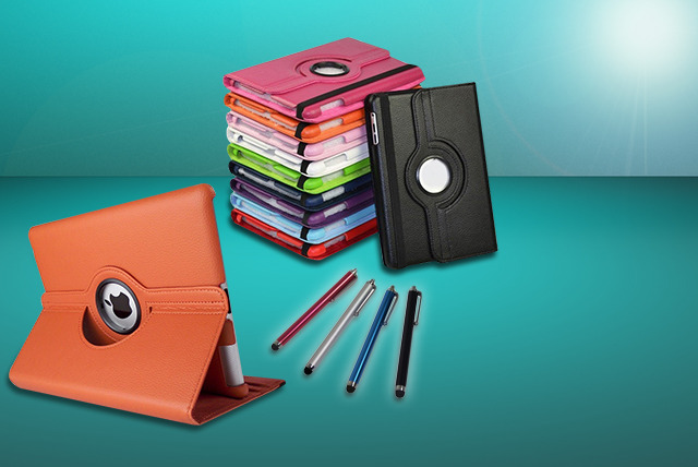 £7.99 instead of £36.99 (from TIME 2) for a rotatable iPad or iPad mini case & stylus bundle - save 78%