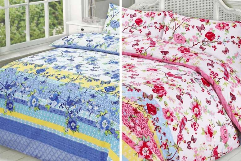Blossom Bedding Set – 4 Colours & 4 Sizes! (£8.99)