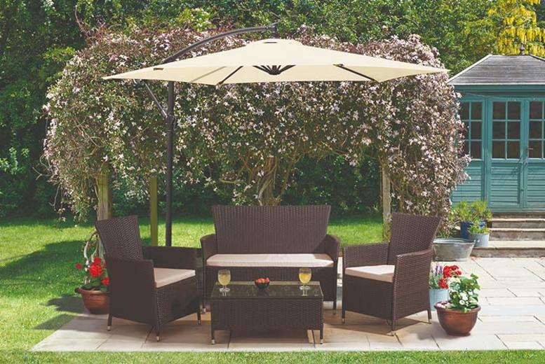 4pc Rattan Garden Furniture Lounge Set (£189)