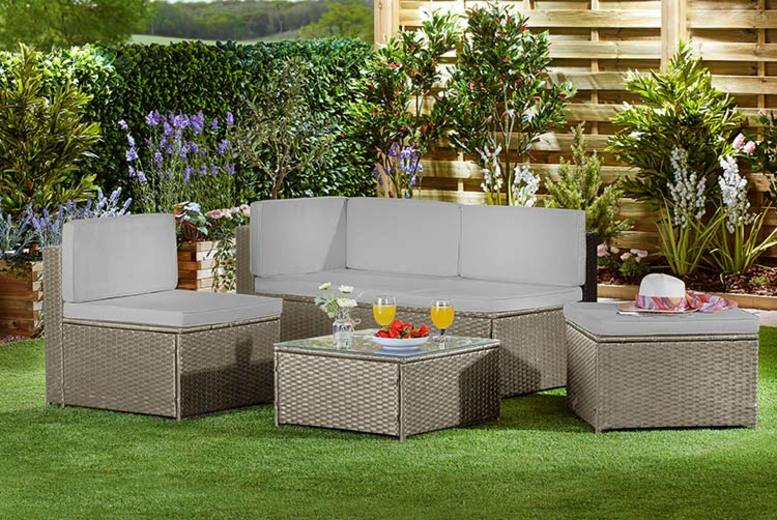 Garden Life 4-Seater Rattan Sofa Set with Optional Cover – 3 Colours! (£269)